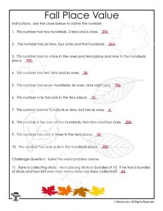 Place Value Puzzles Worksheet Answer Key