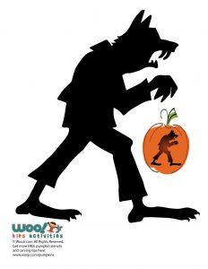 Werewolf Silhouette Pumpkin