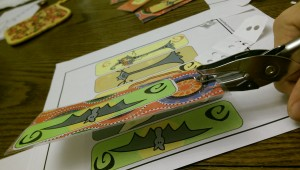 Remember to punch the hole AFTER you laminate the bookmark craft or you'll end up having to punch it again!