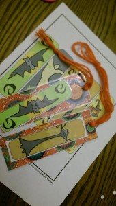 While making this bookmark craft, we fiddled around with different ways to cut and tie the yarn to make tassels.