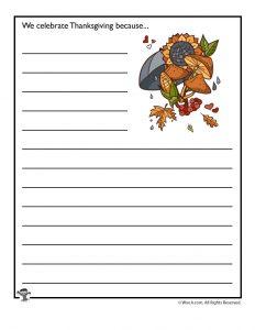 We celebrate Thanksgiving because...