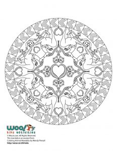 Christmas Deer Mandala Adult Coloring Printable