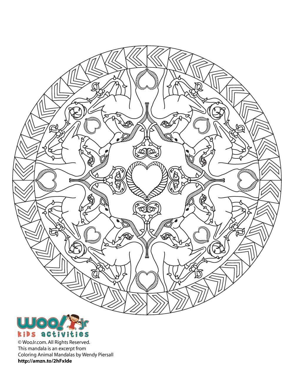 christmas deer mandala adult coloring printable woo jr kids activities. Black Bedroom Furniture Sets. Home Design Ideas