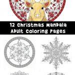 Beautiful Printable Christmas Adult Coloring Pages Woo Jr Kids Activities