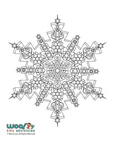 Snowflake Mandala Winter Adult Coloring Page