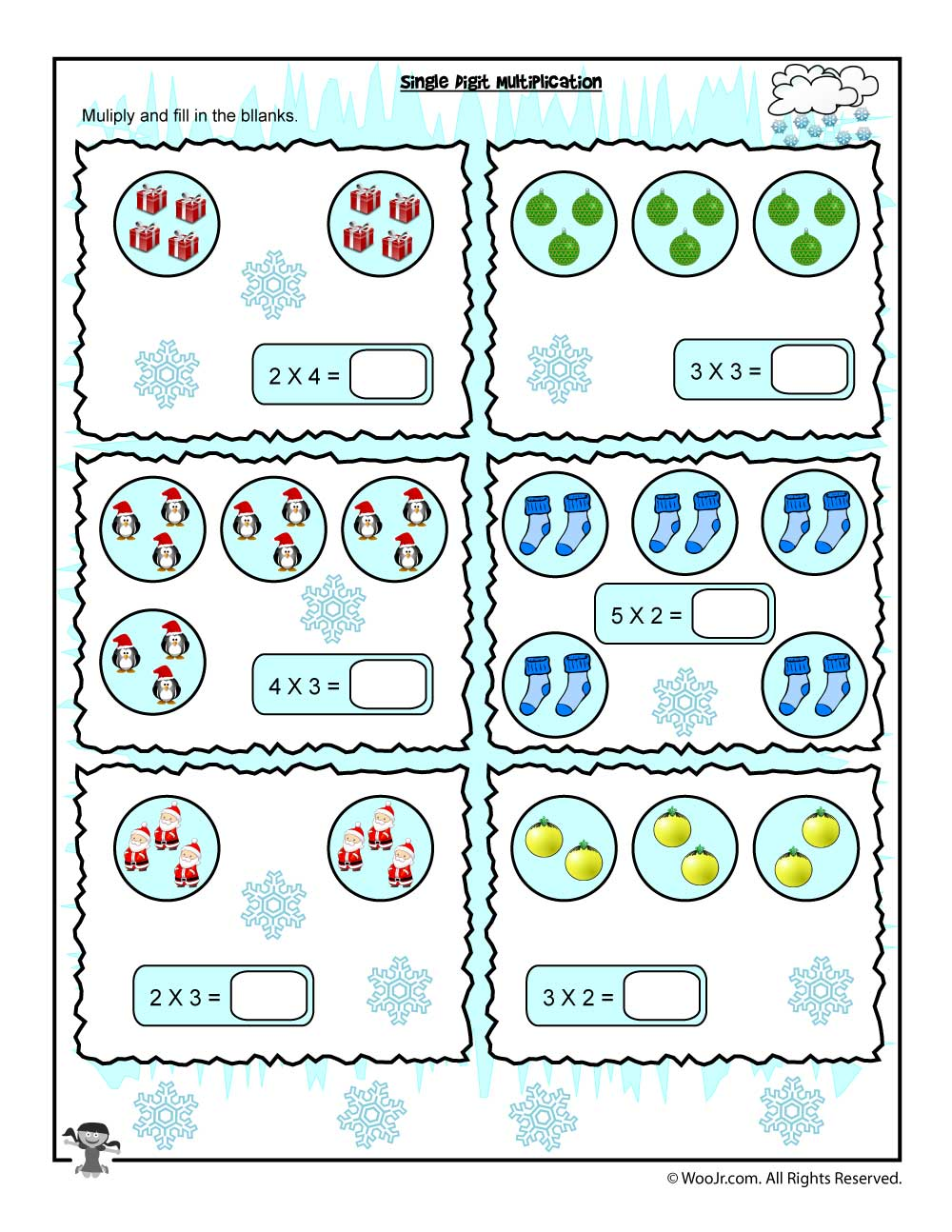 single digit visual counting multiplication worksheet woo jr kids activities. Black Bedroom Furniture Sets. Home Design Ideas