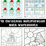 Christmas & Winter Math Worksheets for 2nd, 3rd and 4th Graders