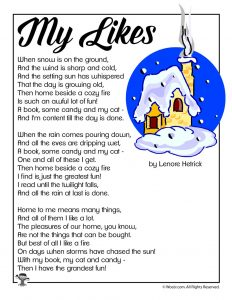 My Likes Poem About Winter