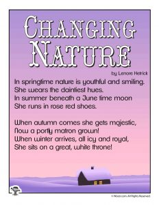 Changing Nature Poem for Kids