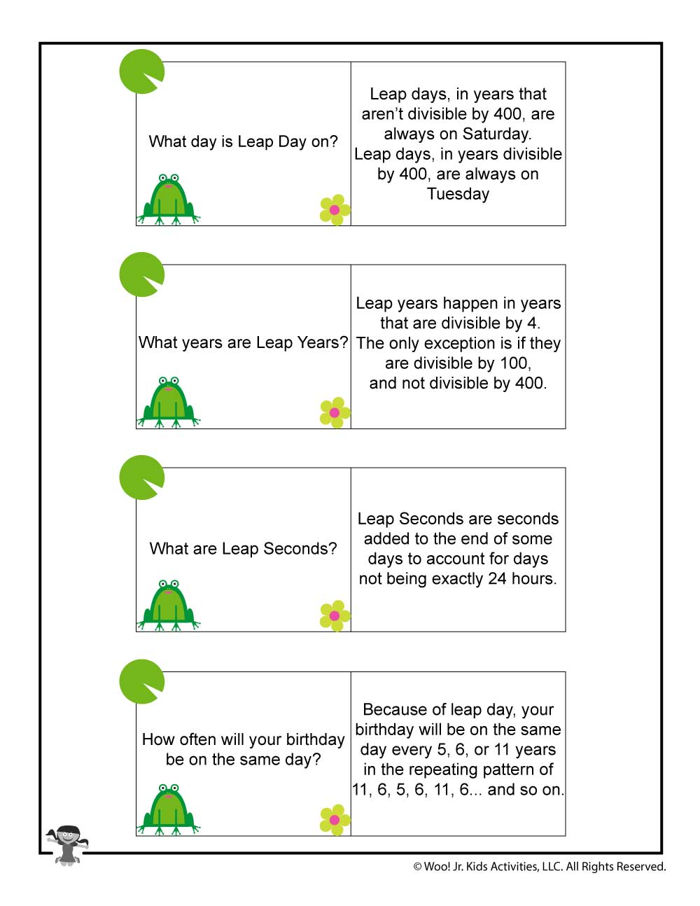 It's just a picture of Gorgeous Leap Year Printable