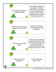 Printable Leap Year Facts Part 1