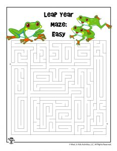 Leap Year Maze - Easier