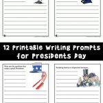 Presidents Day Printable Story Starters