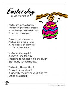Easter Joy Poem for Kids