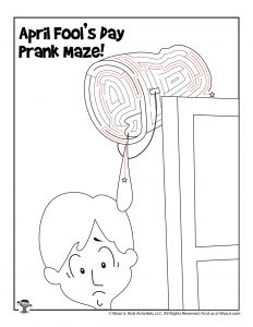 April Fools Activities Prank Maze - KEY