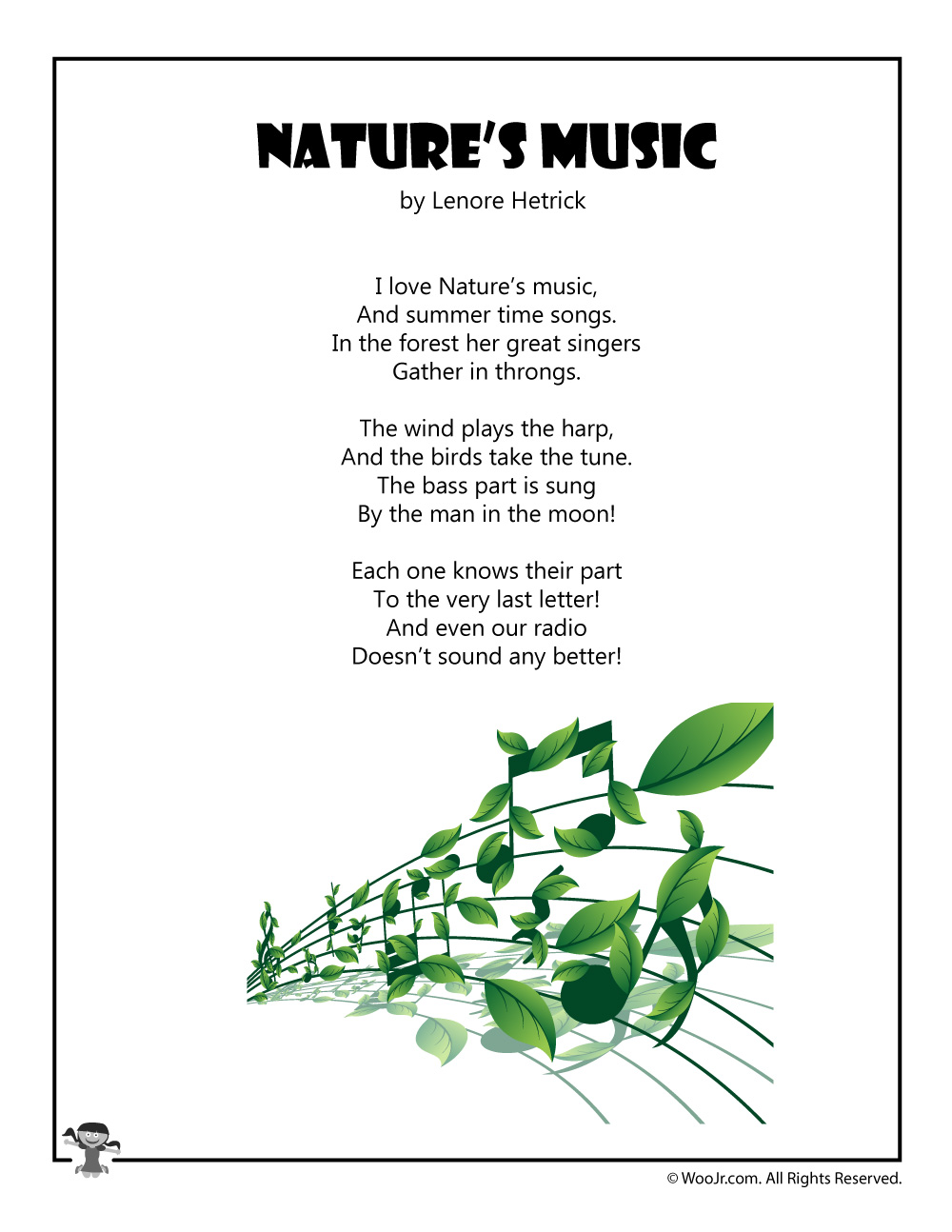 Nature S Music Children S Poetry Woo Jr Kids Activities The rime of the ancient mariner (extract) by samuel taylor coleridge. nature s music children s poetry woo