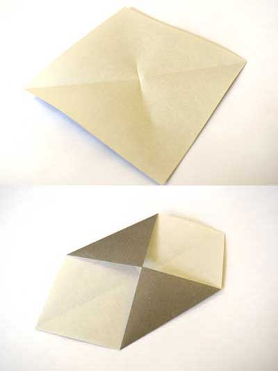Origami ball instructions - step 1