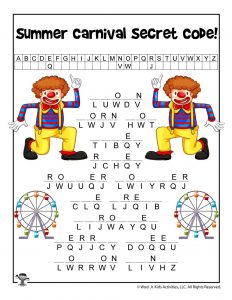 Summer Carnival Words Cryptogram