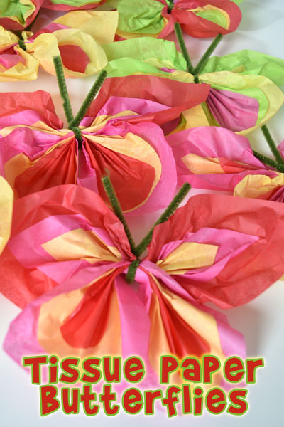 Make Easy Tissue Paper Butterflies