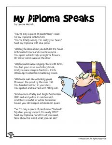 Graduation Poems for Kids