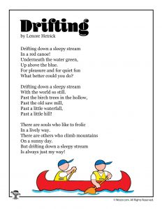Drifting Summer Poetry for Kids