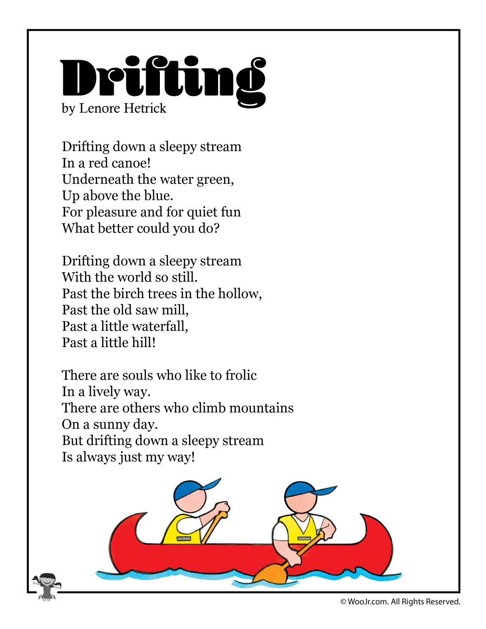 Drifting Summer Poetry for Kids | Woo! Jr. Kids Activities