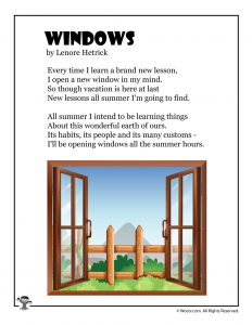 Windows Kid's Poem for Summer