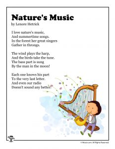 Nature's Music Summer Kid's Poem