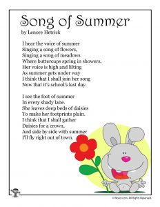 Song of Summer Poem for Kids