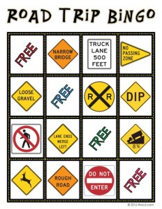 NARROW BRIDGE - Car Printable Bingo Game