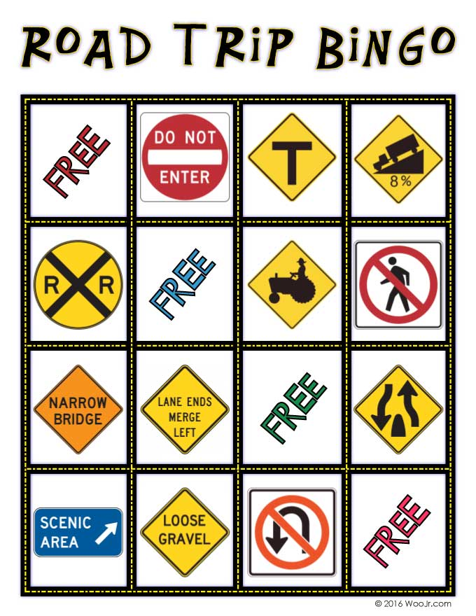 graphic about Travel Bingo Printable named Automobile Online games for Children: Perform Street Getaway Bingo! Woo! Jr. Little ones
