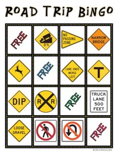 ROAD GRADE - Car Printable Bingo Game