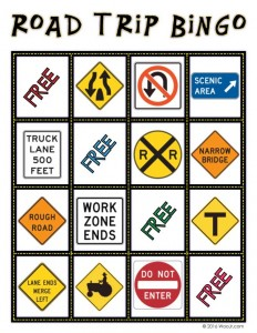 ROAD MEDIAN - Car Printable Bingo Game