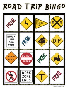 DEER CROSSING - Car Printable Bingo Game