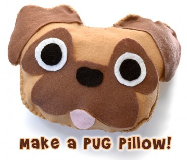 First Sewing Project: Make a Pug Pillow!