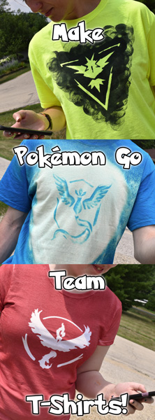 Make Pokémon Go Team T-Shirts