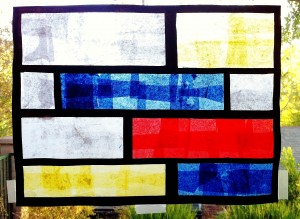 Finished Mondrian Stained Glass Window