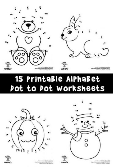 Printable Alphabet Dot to Dot Worksheets