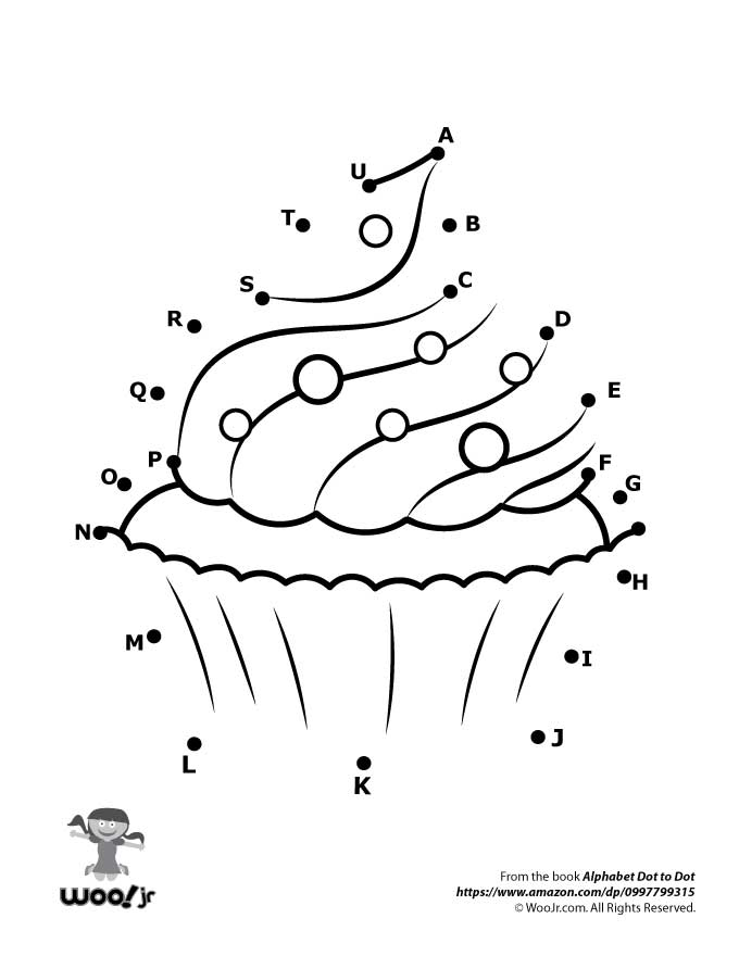Cupcake Dot to Dot Woo Jr Kids Activities – Dot to Dot Worksheets
