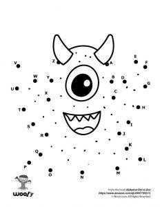 Cute Monster Dot to Dot
