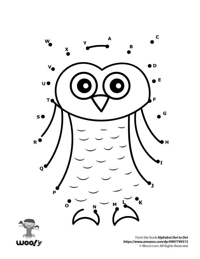 Owl Dot to Dot Woo Jr Kids