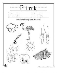 Color Pink Worksheet