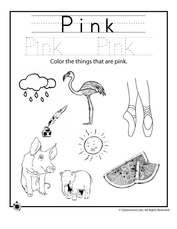 color pink worksheet woo jr kids activities. Black Bedroom Furniture Sets. Home Design Ideas