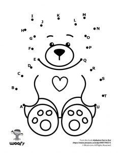 Heart Teddy Bear Dot to Dot