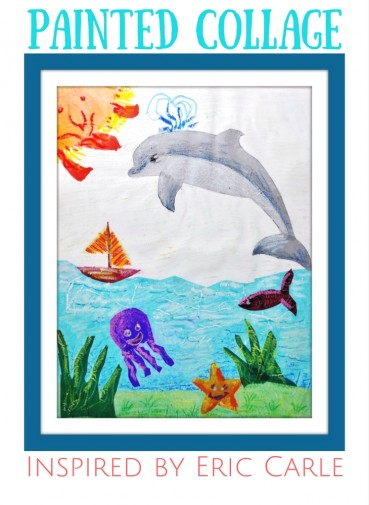 Collage for Kids:  Painted Tissue Paper Inspired by Eric Carle