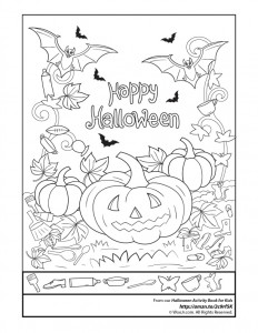 find the item happy halloween - Kids Activity Book Printable