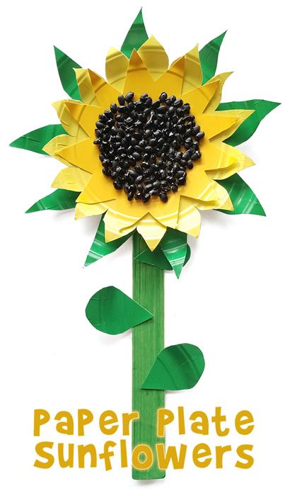 Sunflower Paper Plate Craft Woo