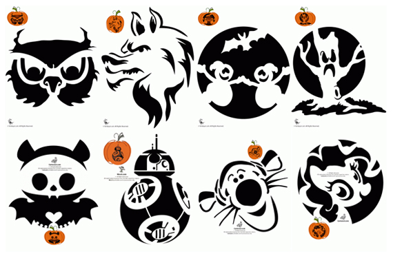 Pumpkin Stencils from Woo! Jr. Kids Activities