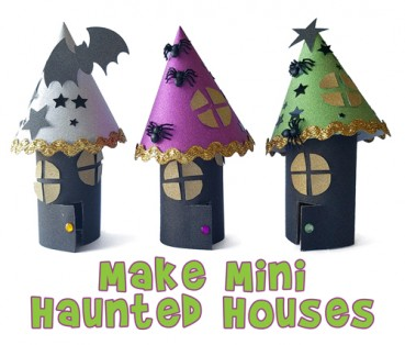 Make Halloween Haunted Houses Out of Toilet Paper Rolls
