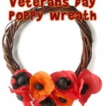 Veteran's Day Craft Crepe Paper Poppy Wreath
